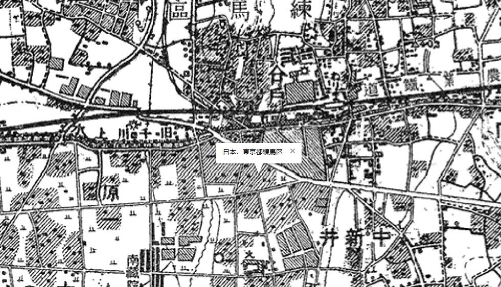 1950年(昭和25年)練馬区周辺の地図
